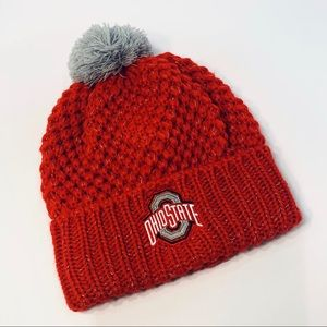 OSU OHIO STATE UNIVERSITY KNIT LOGO HAT